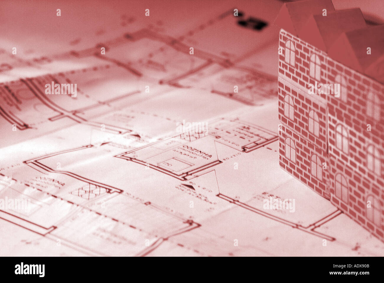 Architecture blueprint blocks toy model building roof plan scheme architecture blueprint blocks toy model building roof plan scheme diagram project concept conceptual background duotone red redd malvernweather Choice Image