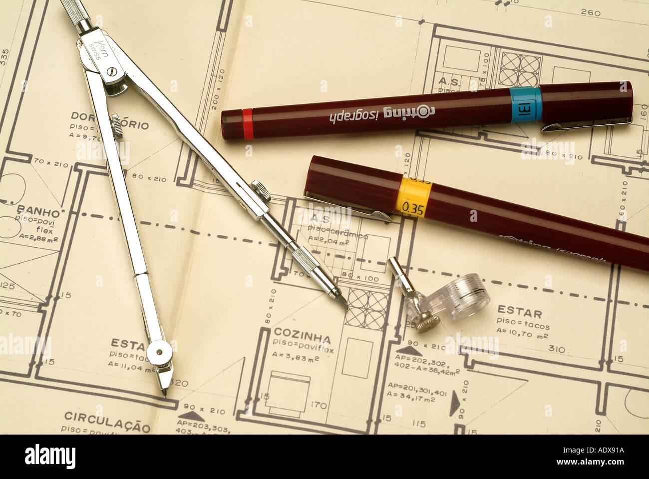 Architecture ink pens concept conceptual compass blueprint diagram architecture ink pens concept conceptual compass blueprint diagram project scheme ruler architecture malvernweather Choice Image