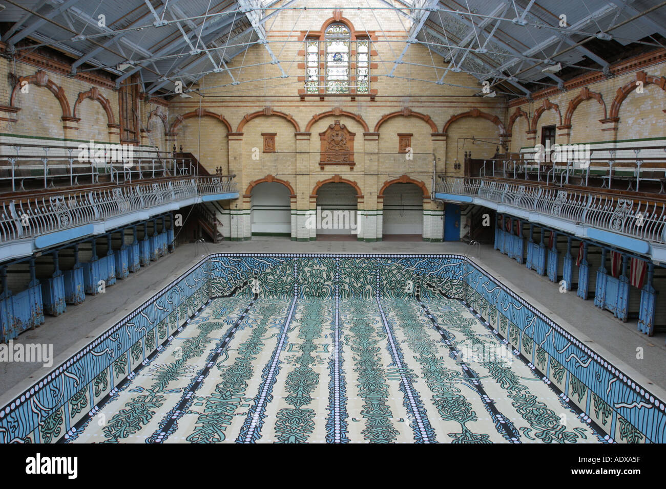 Males first class gala pool Victoria Baths Hathersage Road Longsight Manchester UK - Stock Image
