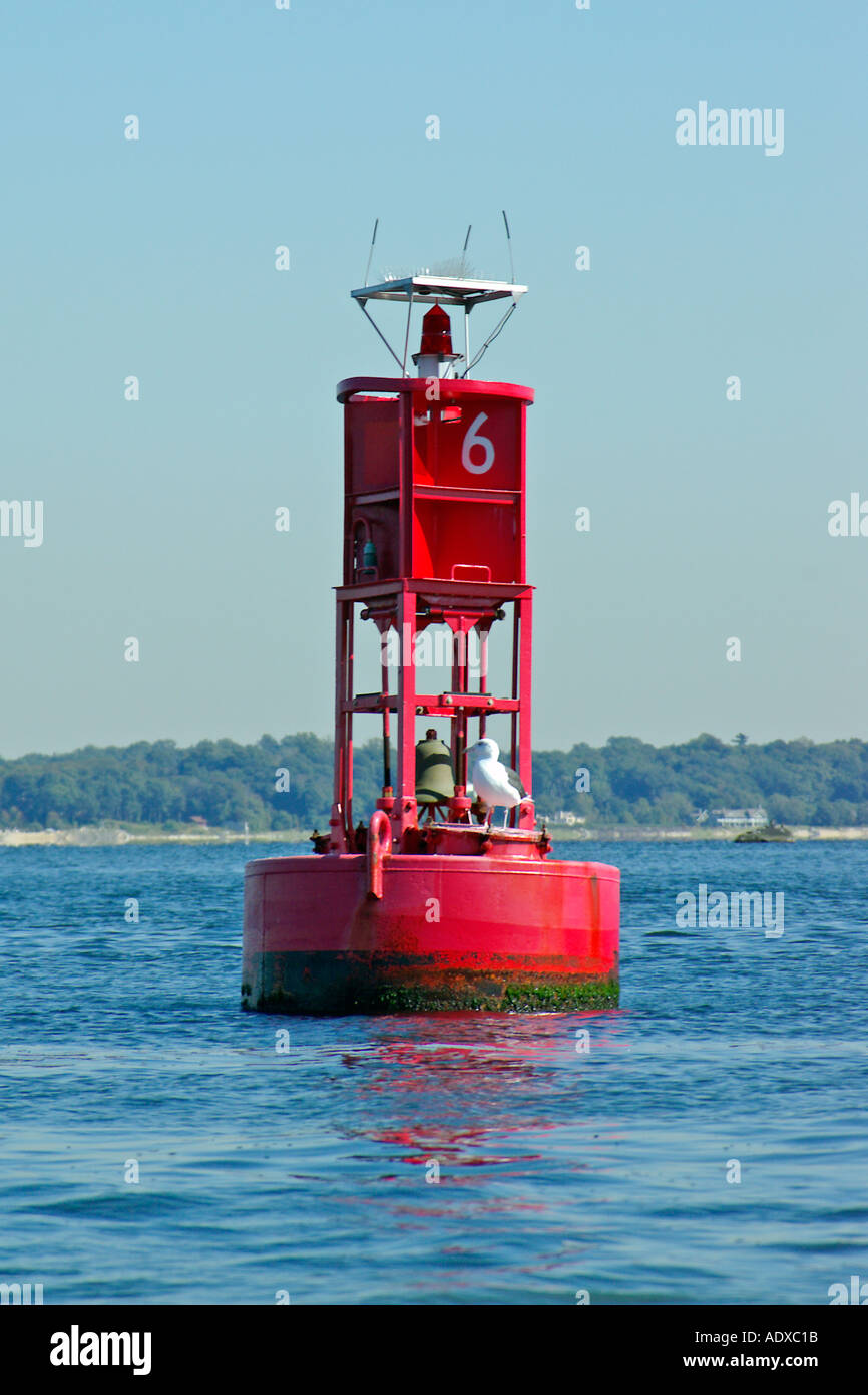 Red buoy - Stock Image