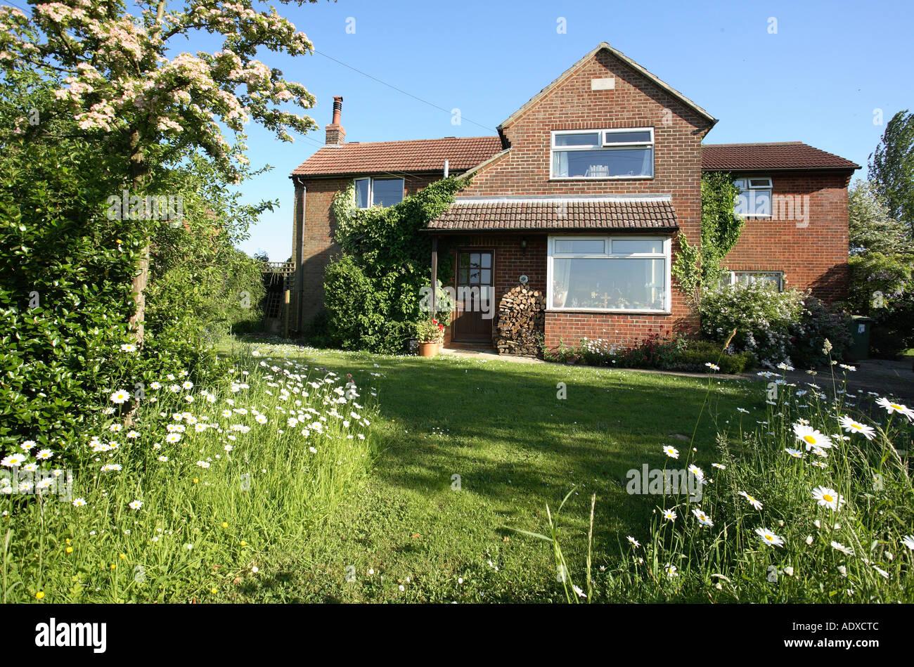 Rural house Hampshire England. - Stock Image