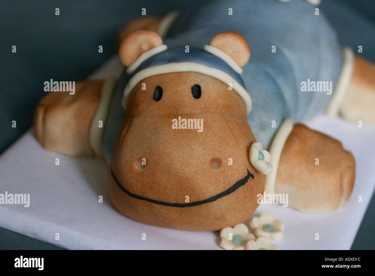 Peachy Hippo Birthday Cake Stock Photo 2518299 Alamy Personalised Birthday Cards Akebfashionlily Jamesorg
