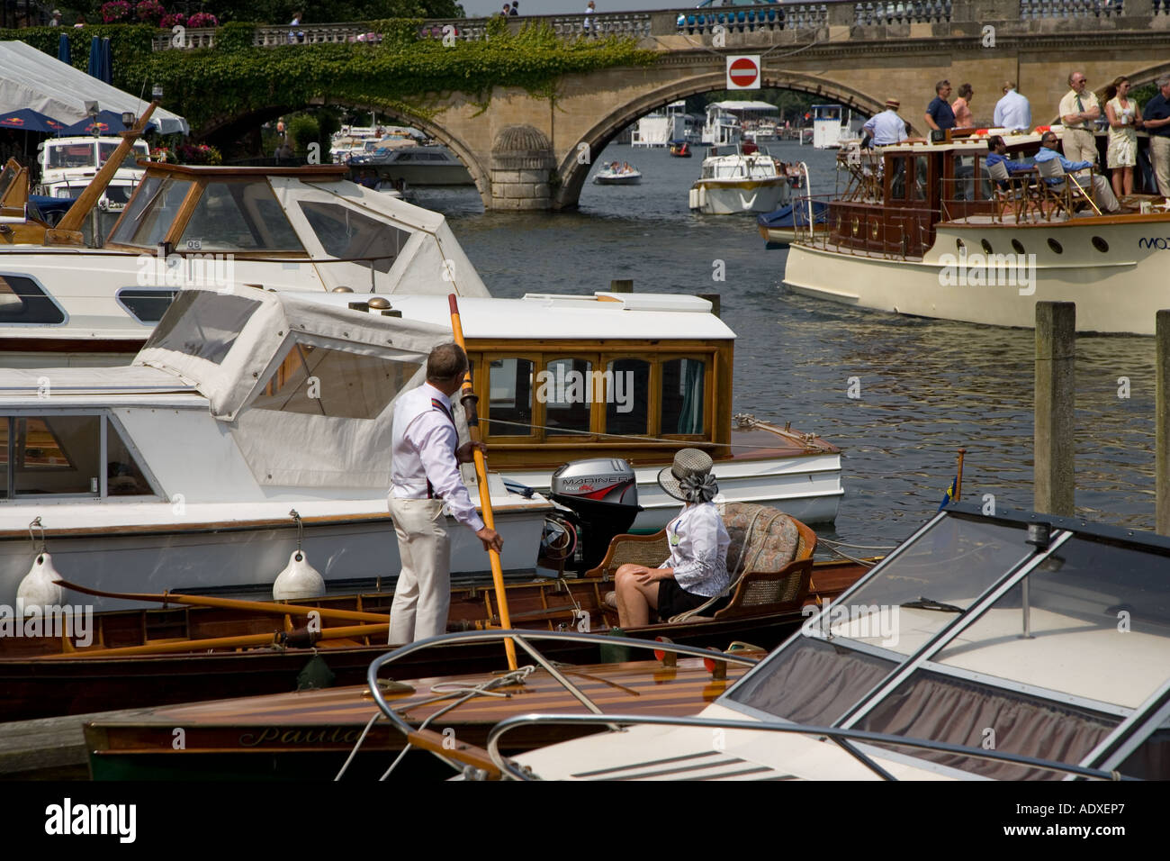 Boating Henley River Thames Oxfordshire UK - Stock Image
