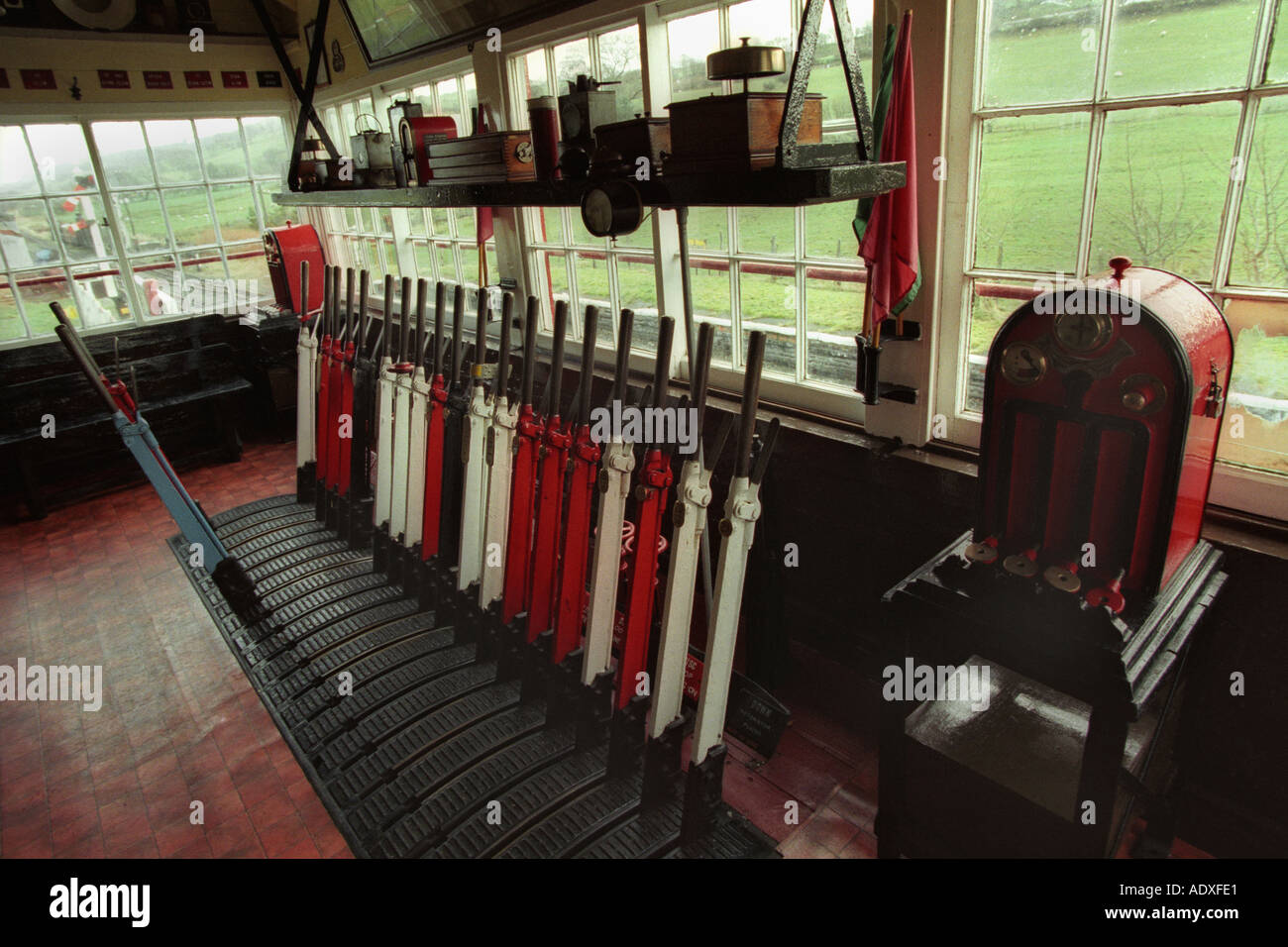 Train Lever In Lodon : Railway signal levers stock photos