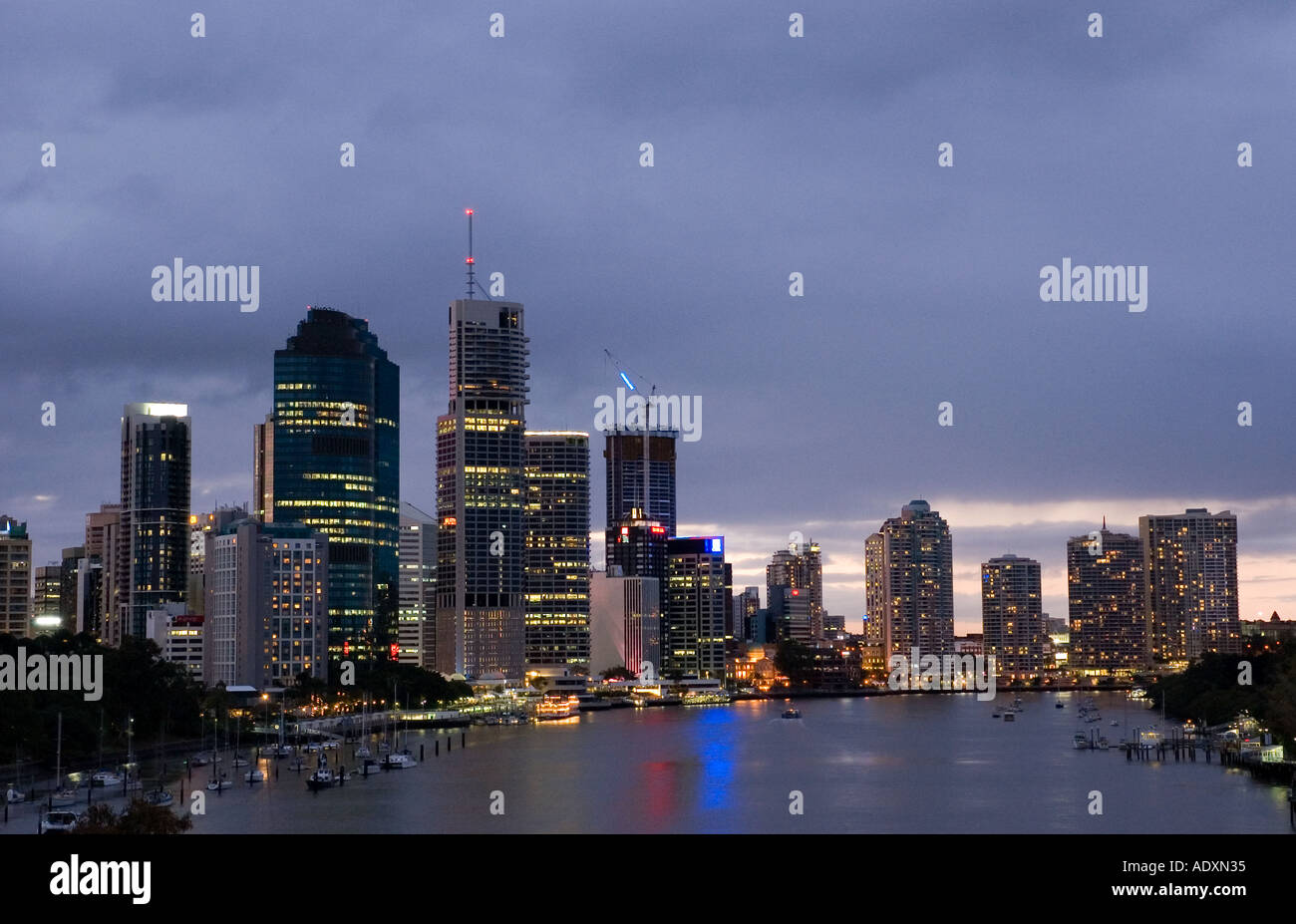 Brisbane at night 3750 - Stock Image