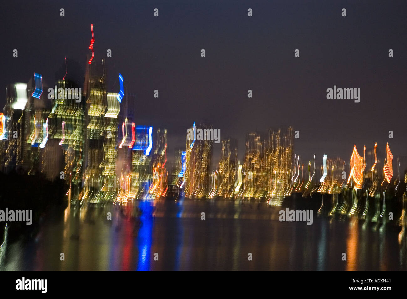 Brisbane at night 3758 - Stock Image