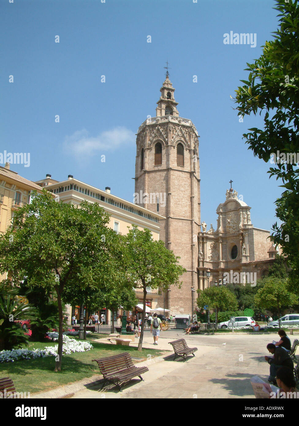 Cathedral, Plaza de la Reina, Valencia, Spain Stock Photo