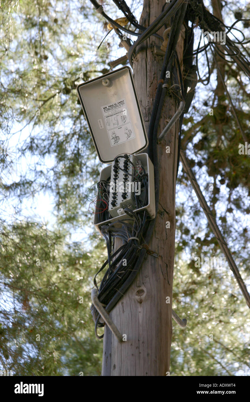 Telephone Cable Box Stock Photos & Telephone Cable Box Stock Images