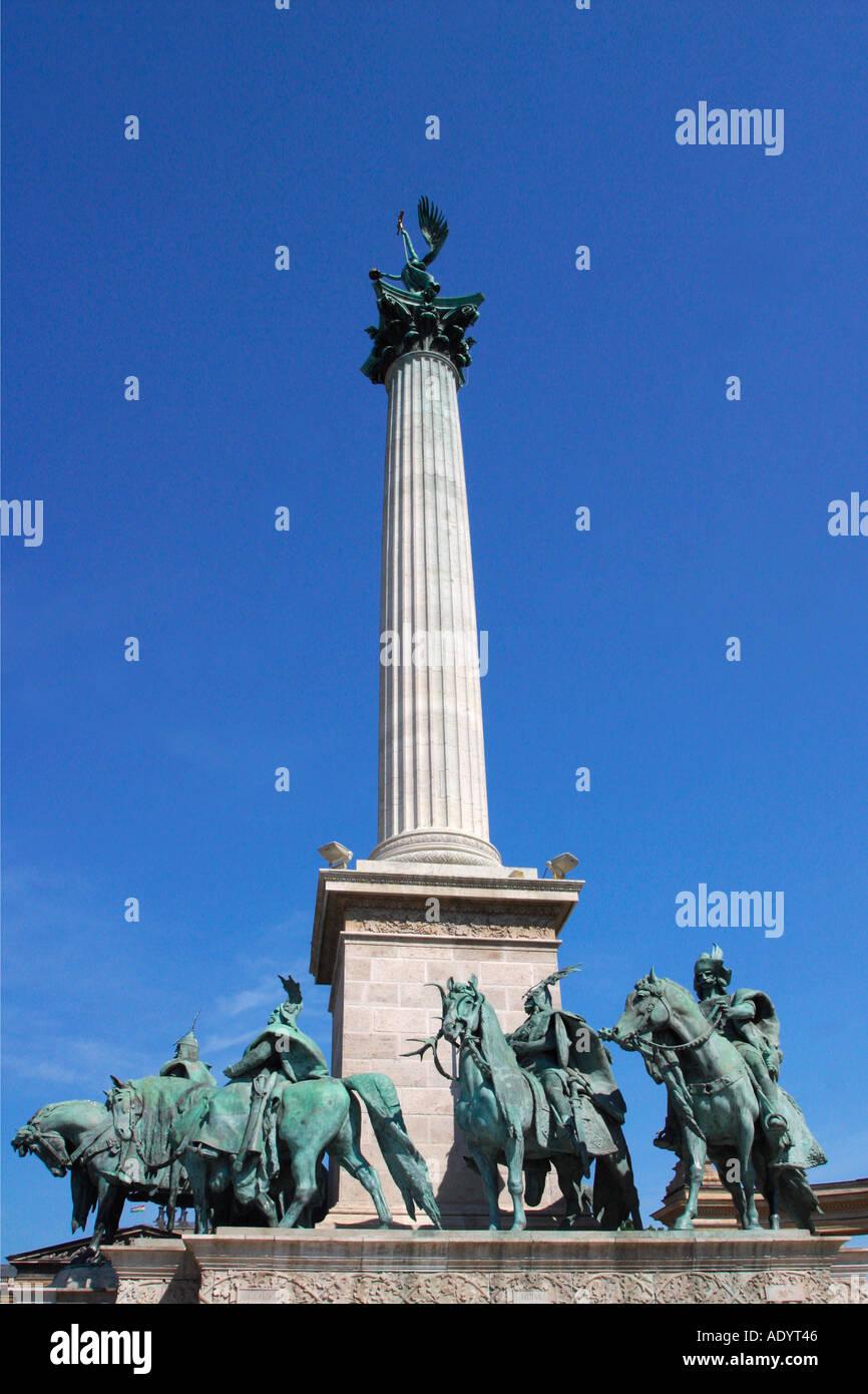 Budapest Hero's Heroes Square Statue Monument Hungary Europe Stock Photo