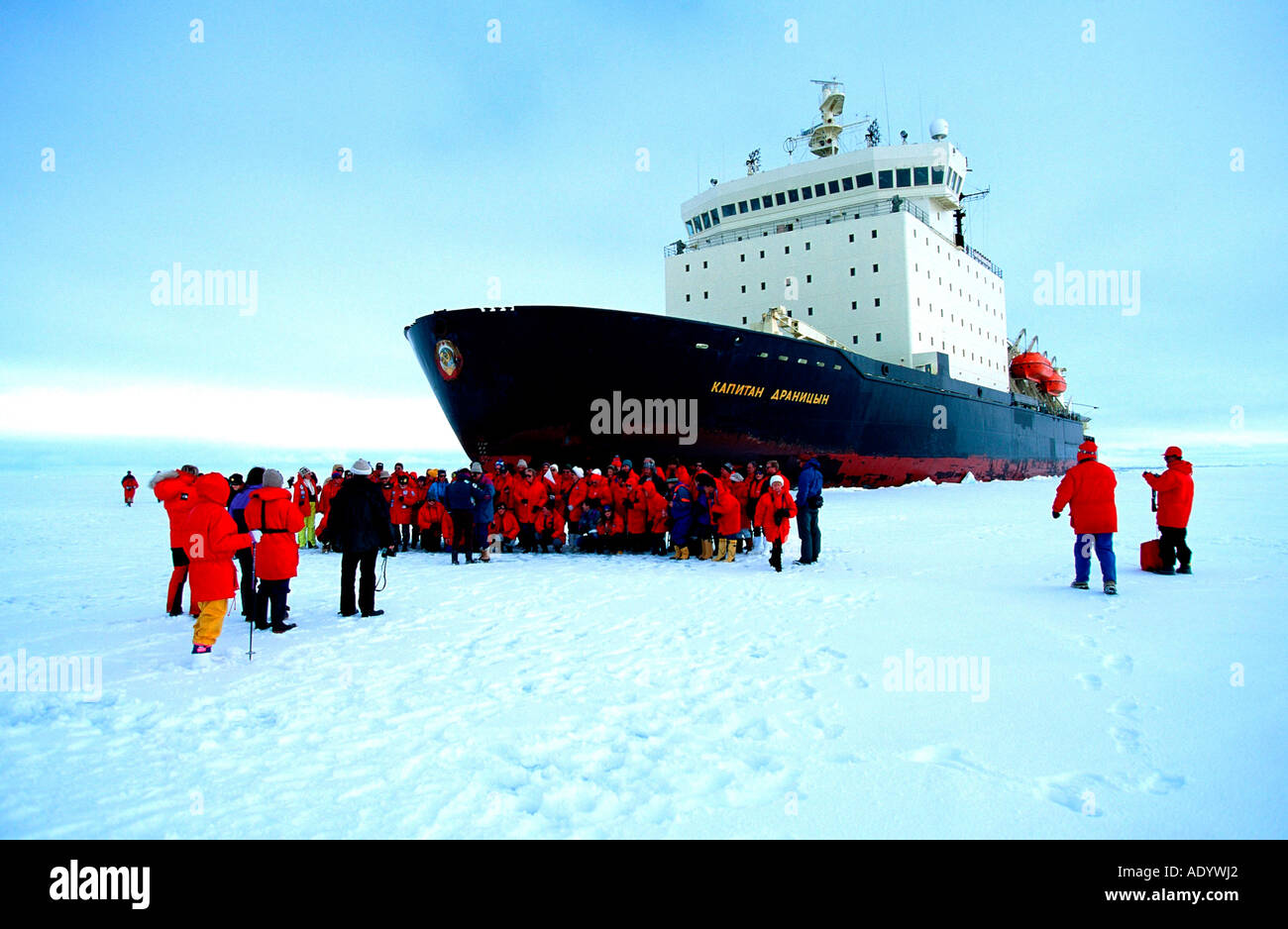 antartica holidays with icebreaker ship - Stock Image