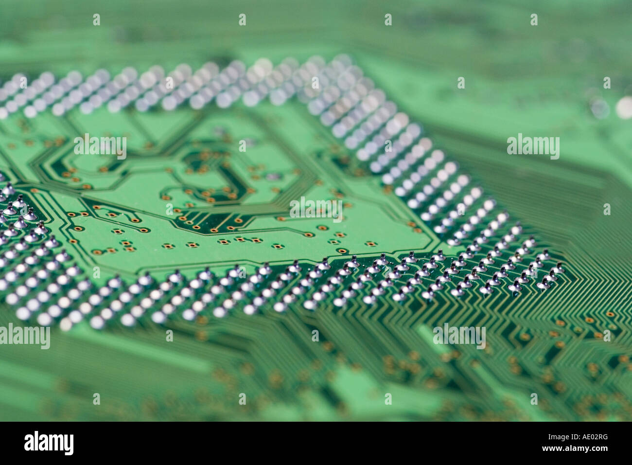 printed circuit board for microprcessor - Stock Image