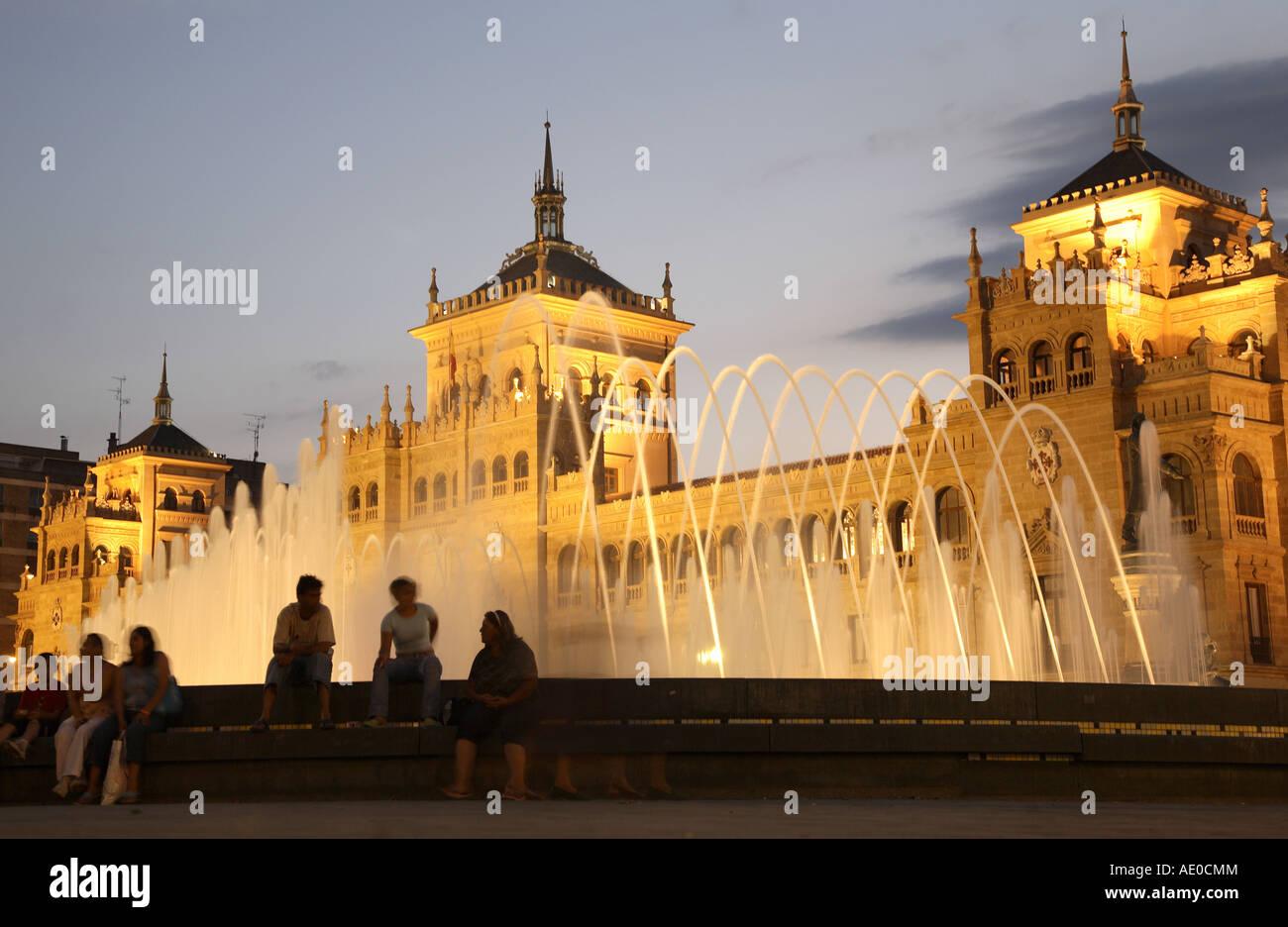 Academia de Caballeria in Plaza Zorrilla Square, Valladolid, Castile and Leon, Spain - Stock Image