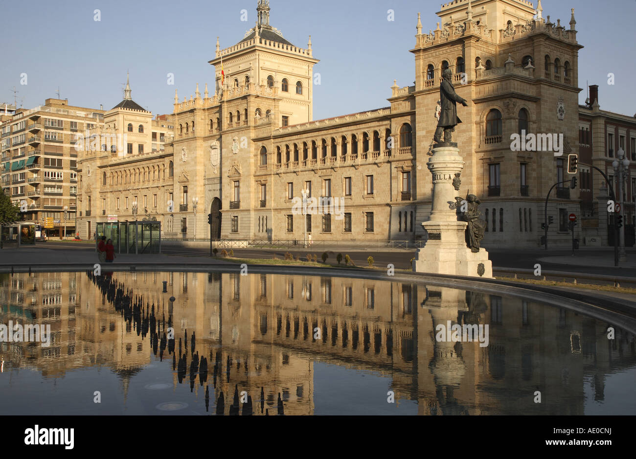 Academia de Caballeria in Plaza Zorrila Square, Valladolid, Castile and Leon, Spain - Stock Image