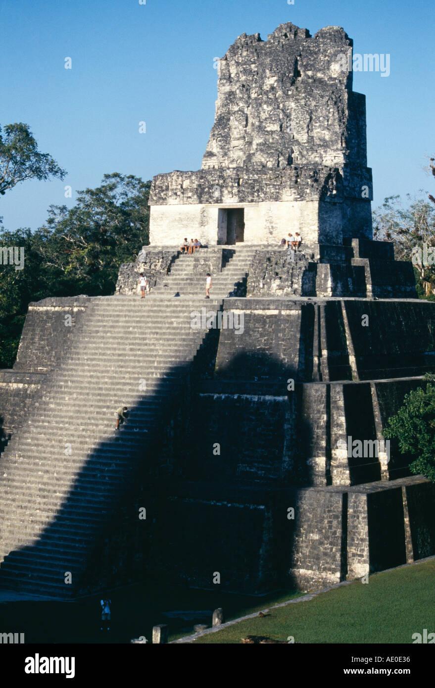 Temple II Tikal Guatemala Stock Photo