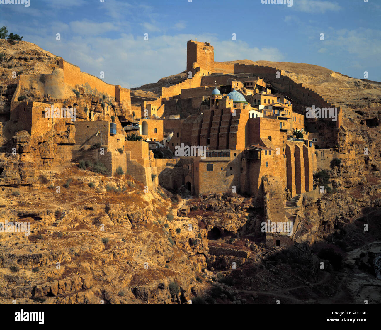monastery mar saba judean desert israel - Stock Image