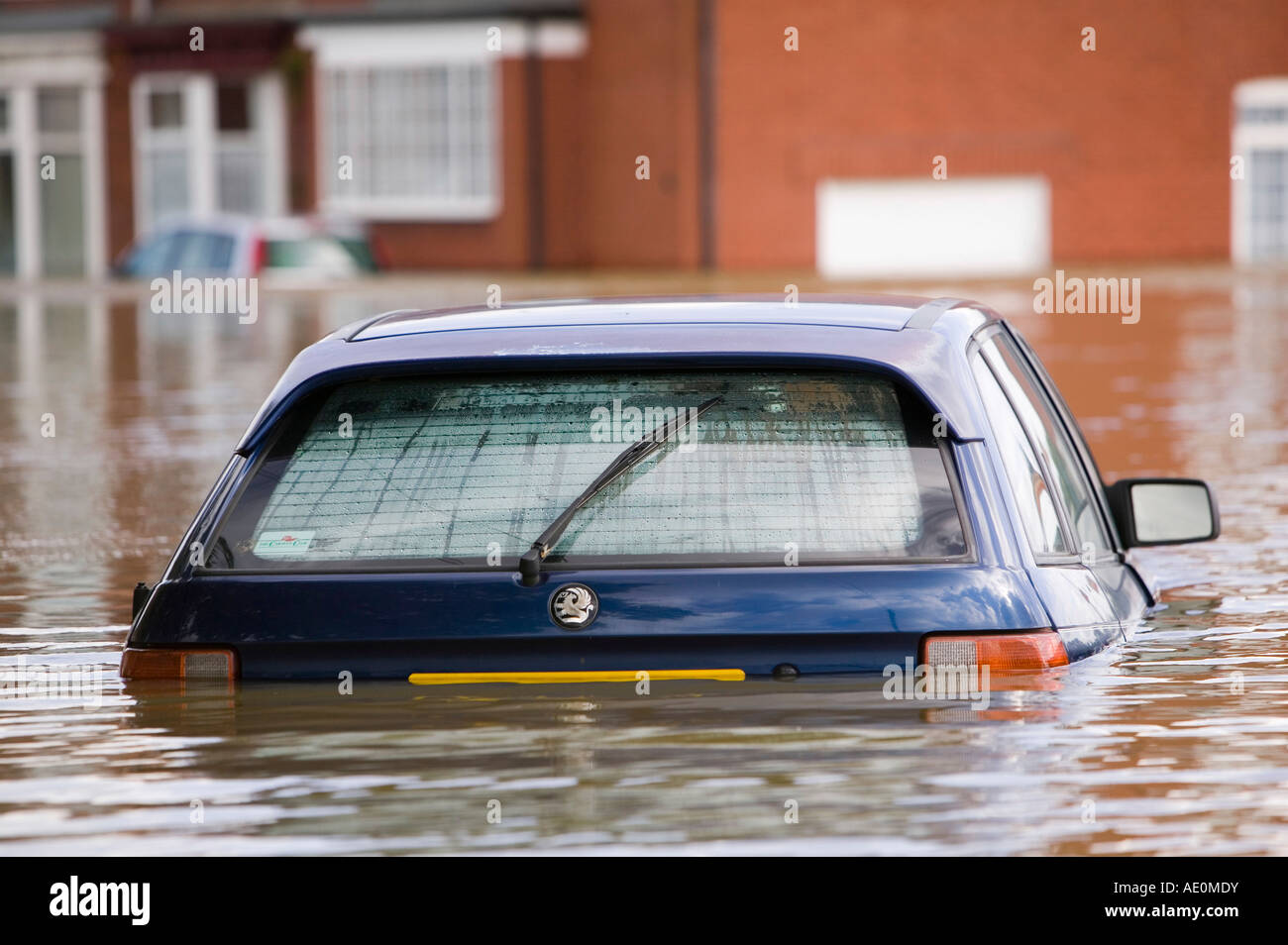 The floods in Toll Bar near Doncaster, South Yorkshire, UK Stock Photo