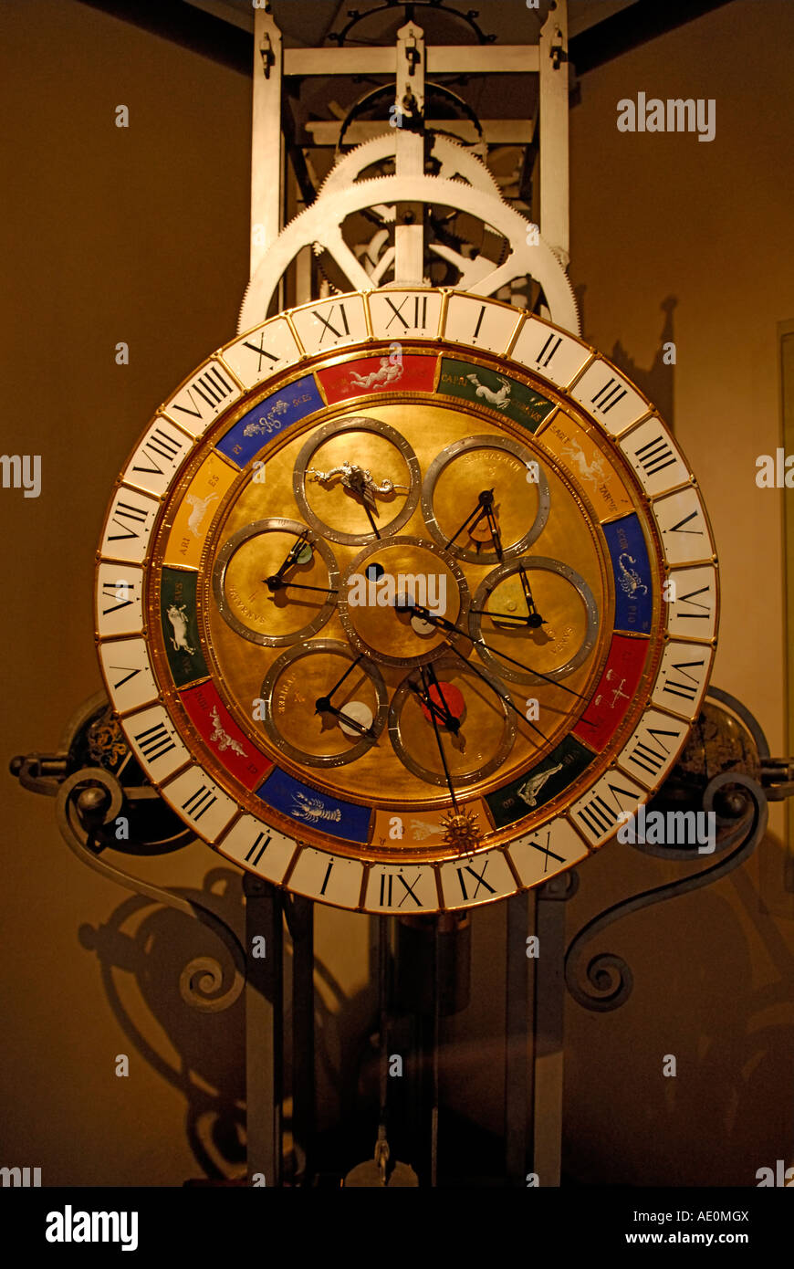 Renaissance planetary clock. Museum of the history of science florence italy lorenzo della volpaia volpaia's - Stock Image