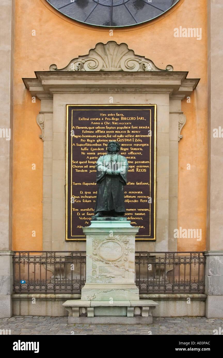Sweden, Stockholm, Gamla Stan, Statue of Gustav III Stock Photo