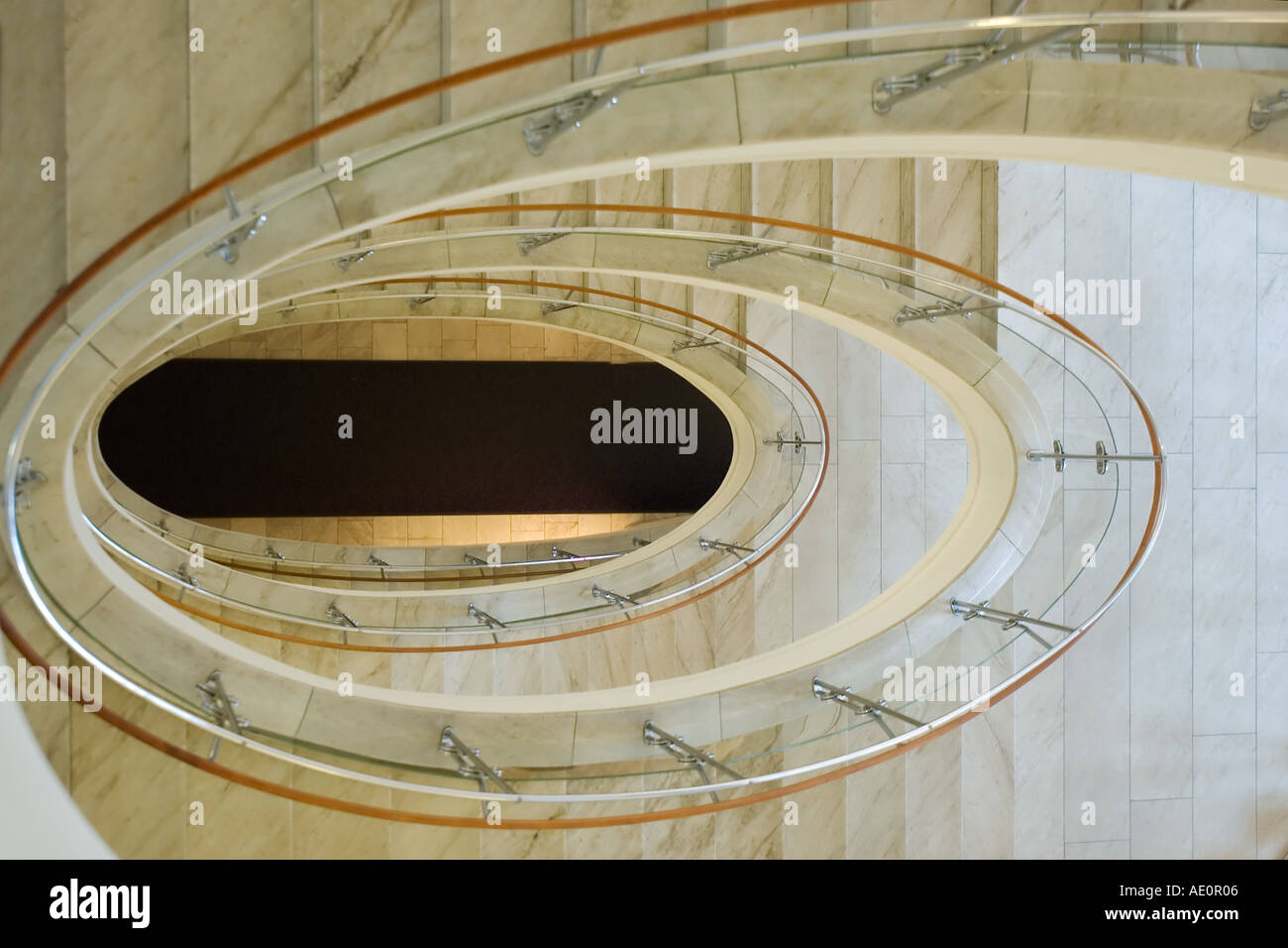 Sweden, Stockholm, NK Department Store, stairway - Stock Image