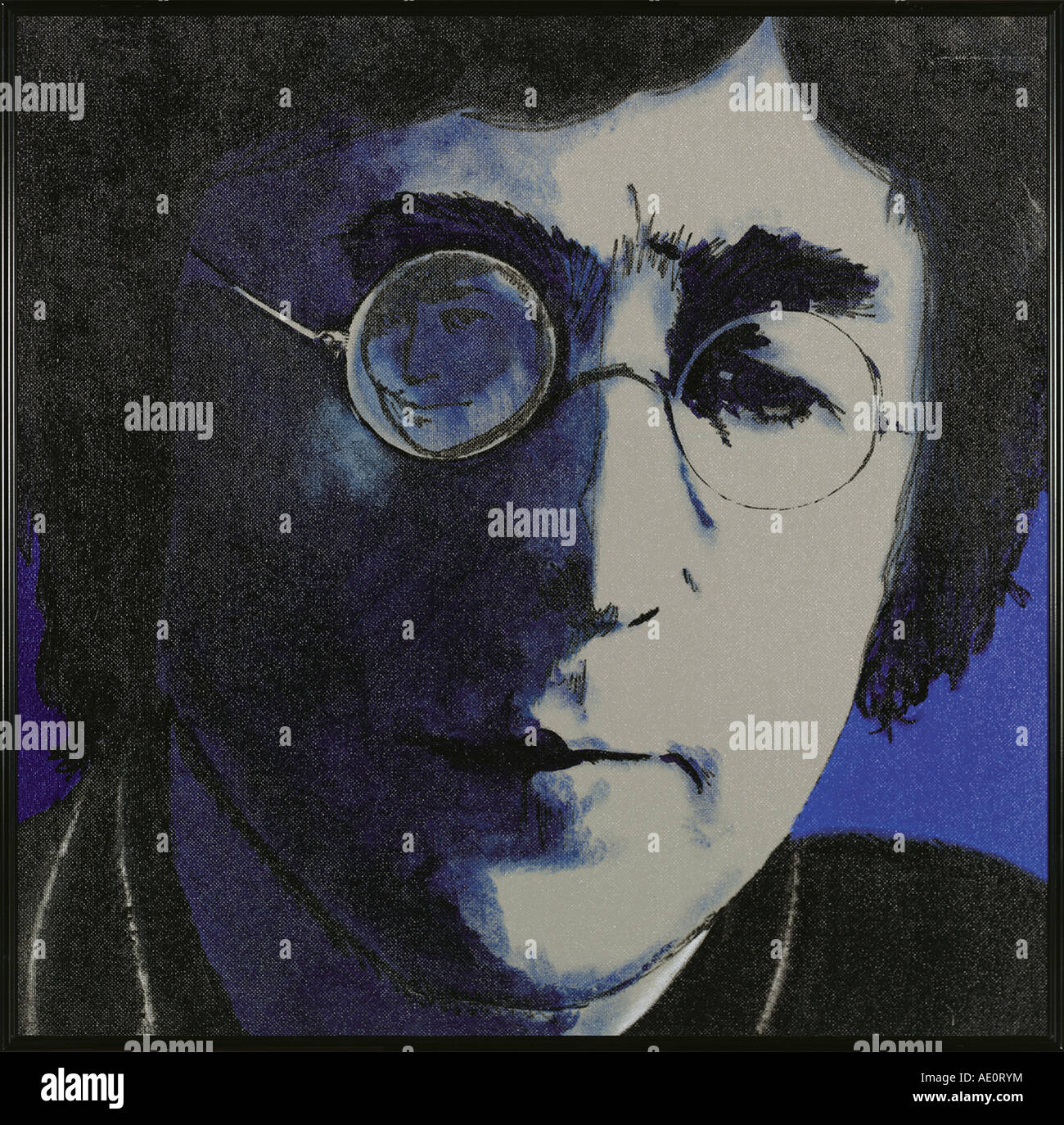 John Lennon painting by nick oudshoorn 1997 - Stock Image