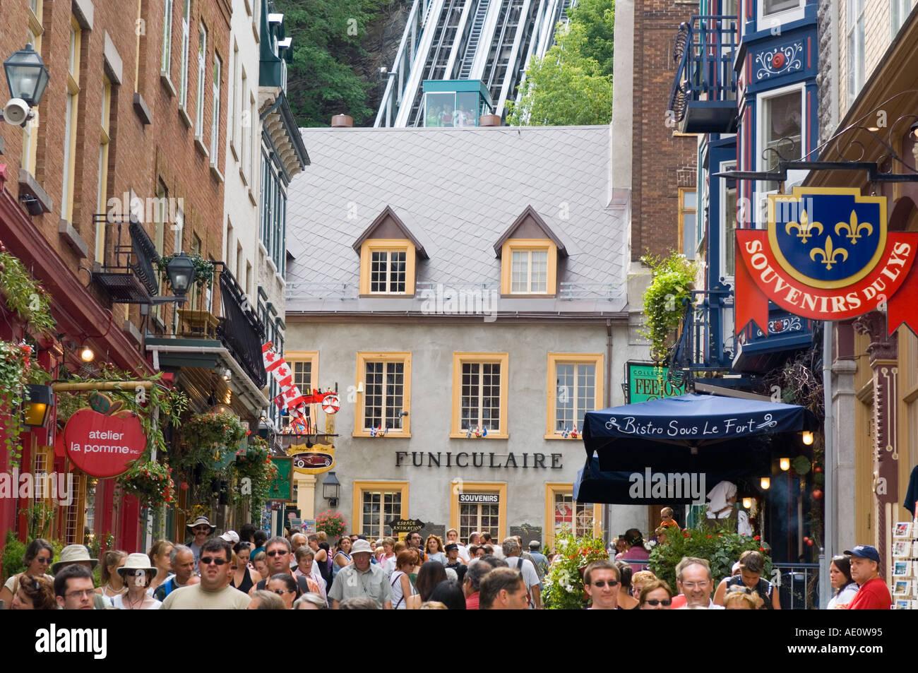 Canada, Quebec City, Fetes de la Nouvelle France, Streets of Old Quebec Stock Photo