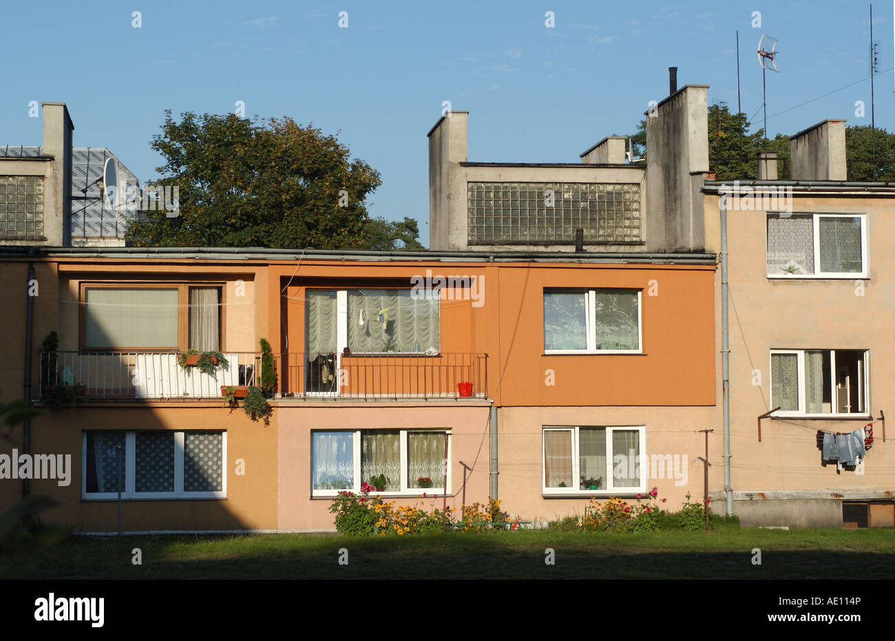 Block of flats in Dziwnow, Poland - Stock Image