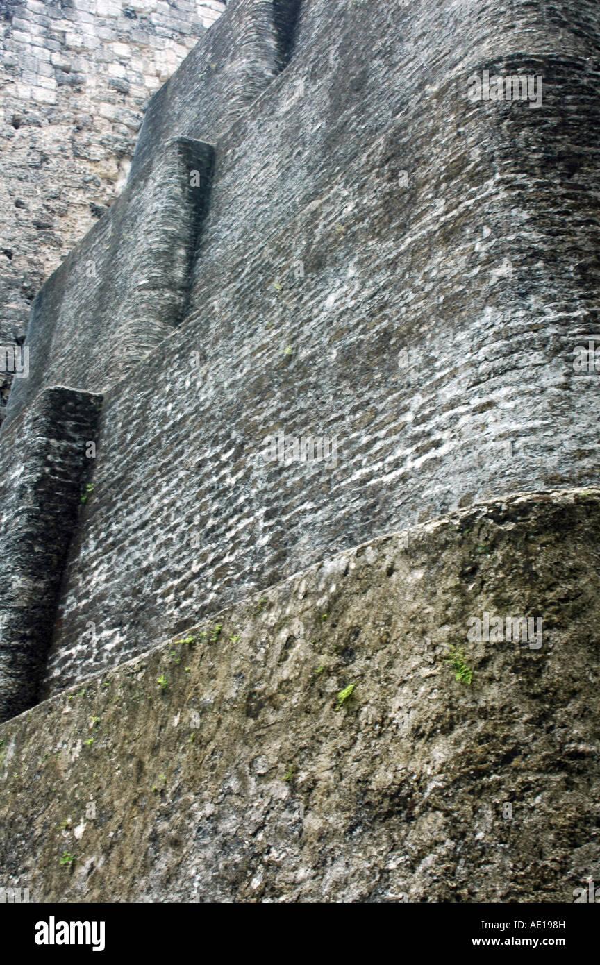 Tikal Temple V walls, Guatemala. - Stock Image