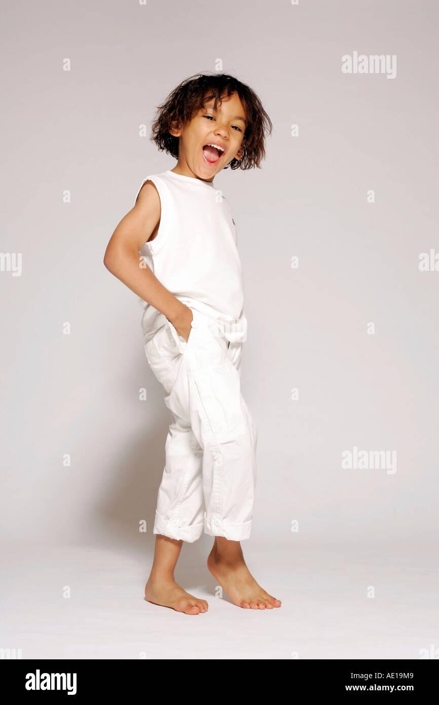 4 year old ethnic boy - Stock Image