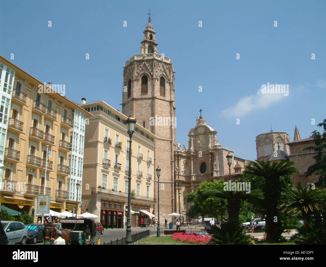 Cathedral, Plaza de la Reina, Valencia, Spain Stock Photo