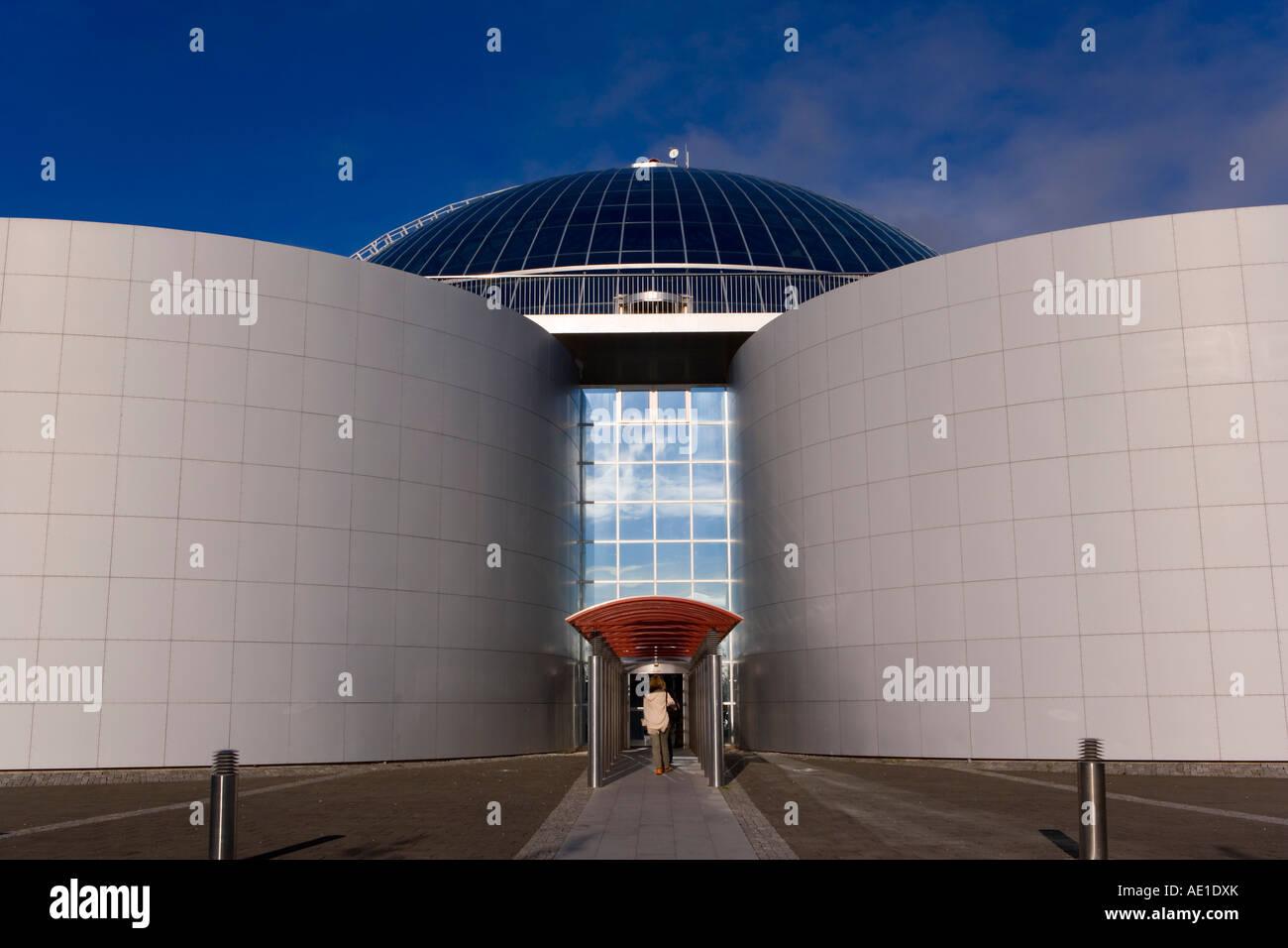 Iceland Reykjavik The Perlan building and Saga Museum - Stock Image