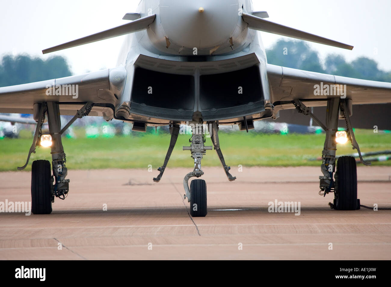 Royal Air Force Eurofighter Typhoon T1 twin-engine multi role canard delta strike fighter aircraft - Stock Image