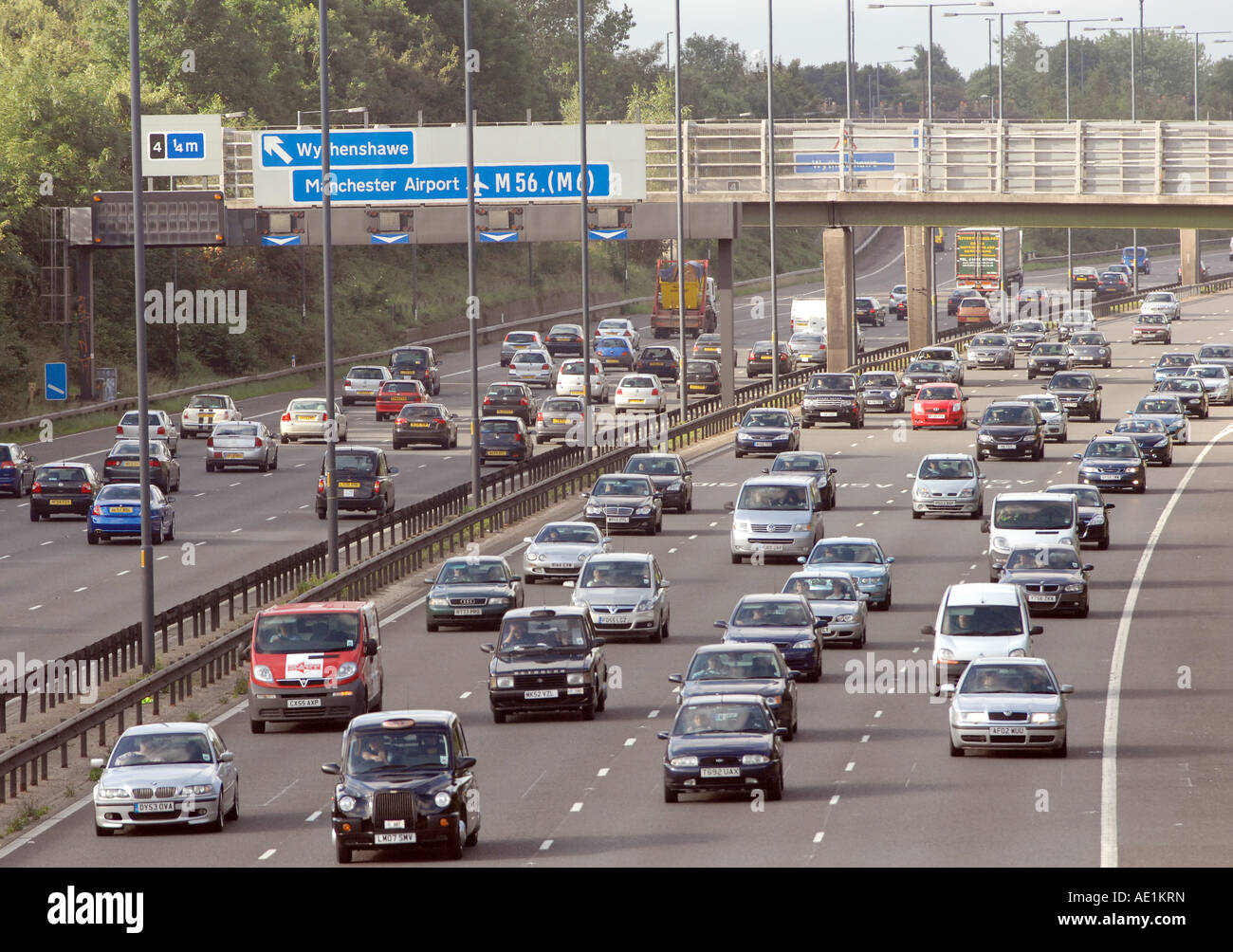 Manchester city centre bound congestion builds up at 8 15am as the ...