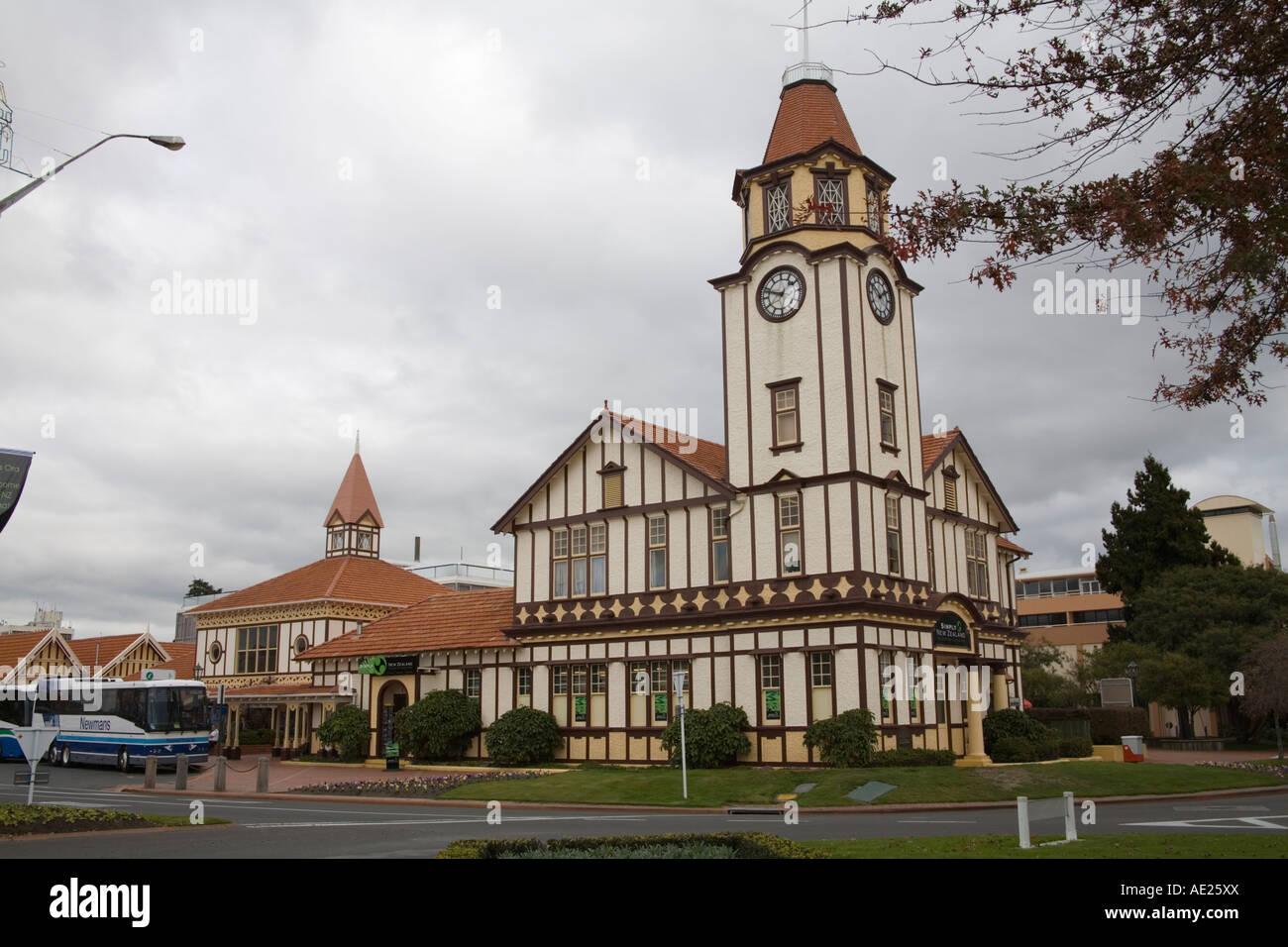 ROTORUA NORTH ISLAND NEW ZEALAND May Rotorua's Travel and Information Centre building - Stock Image