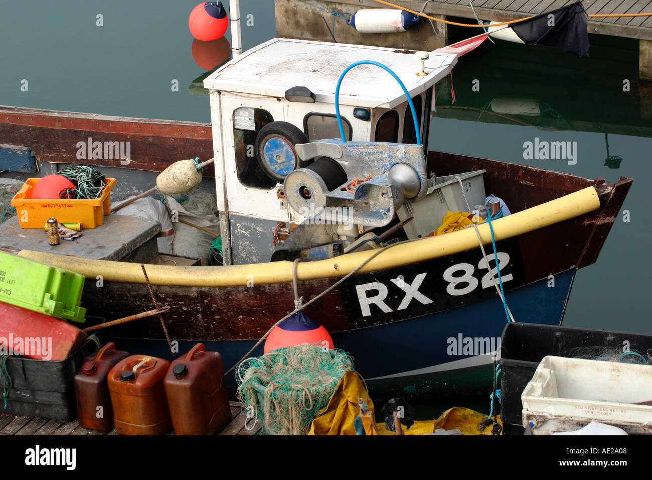 Fishing boat in Brighton Marina Sussex England UK Stock Photo