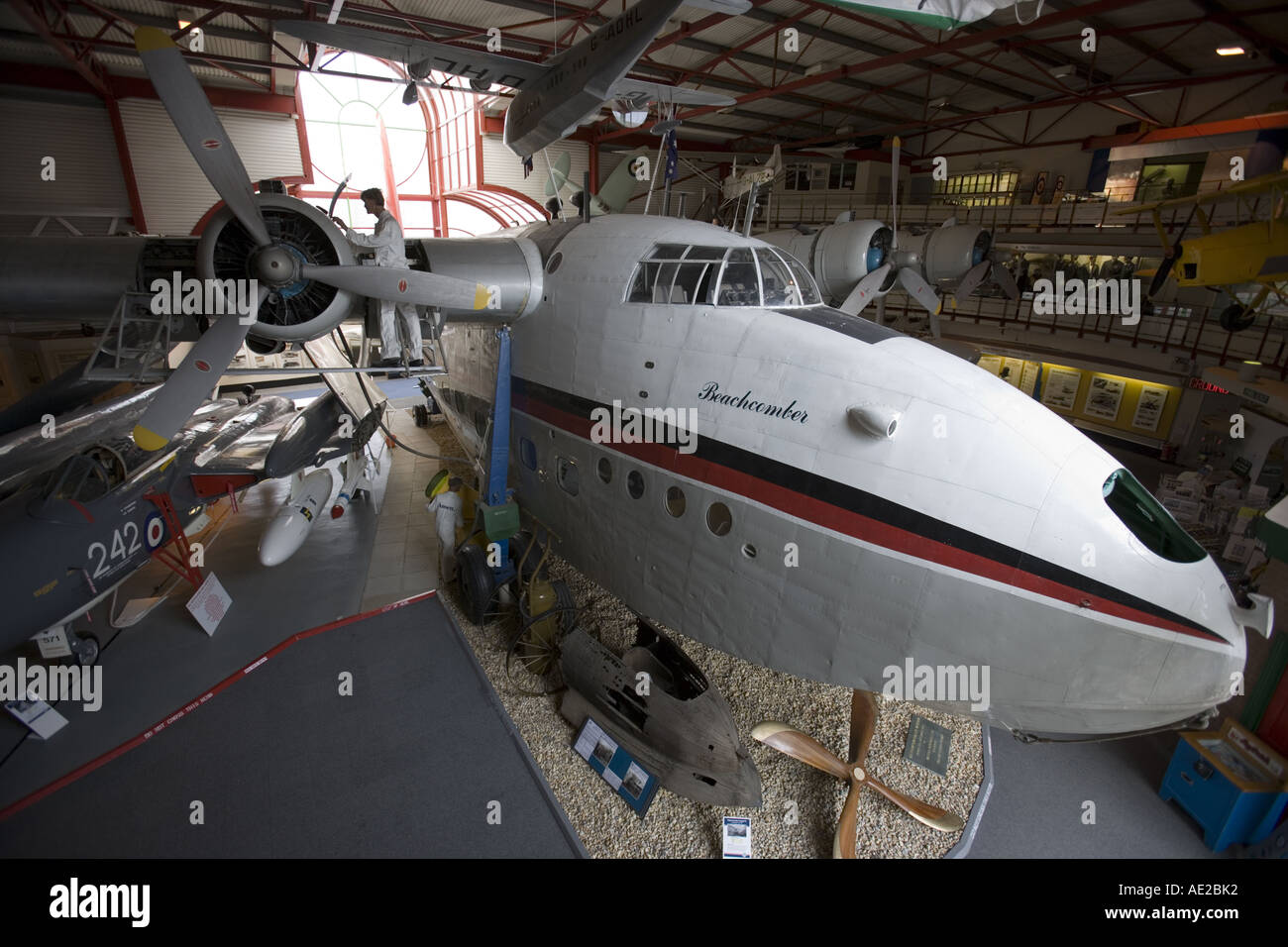 Short Sandringham four engined flying boat exhibit Courtesy of Southampton Hall of Aviation - Stock Image