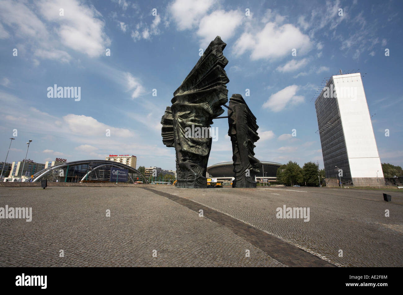 The monument to the Silesian insurgents in Katowice Poland Stock Photo