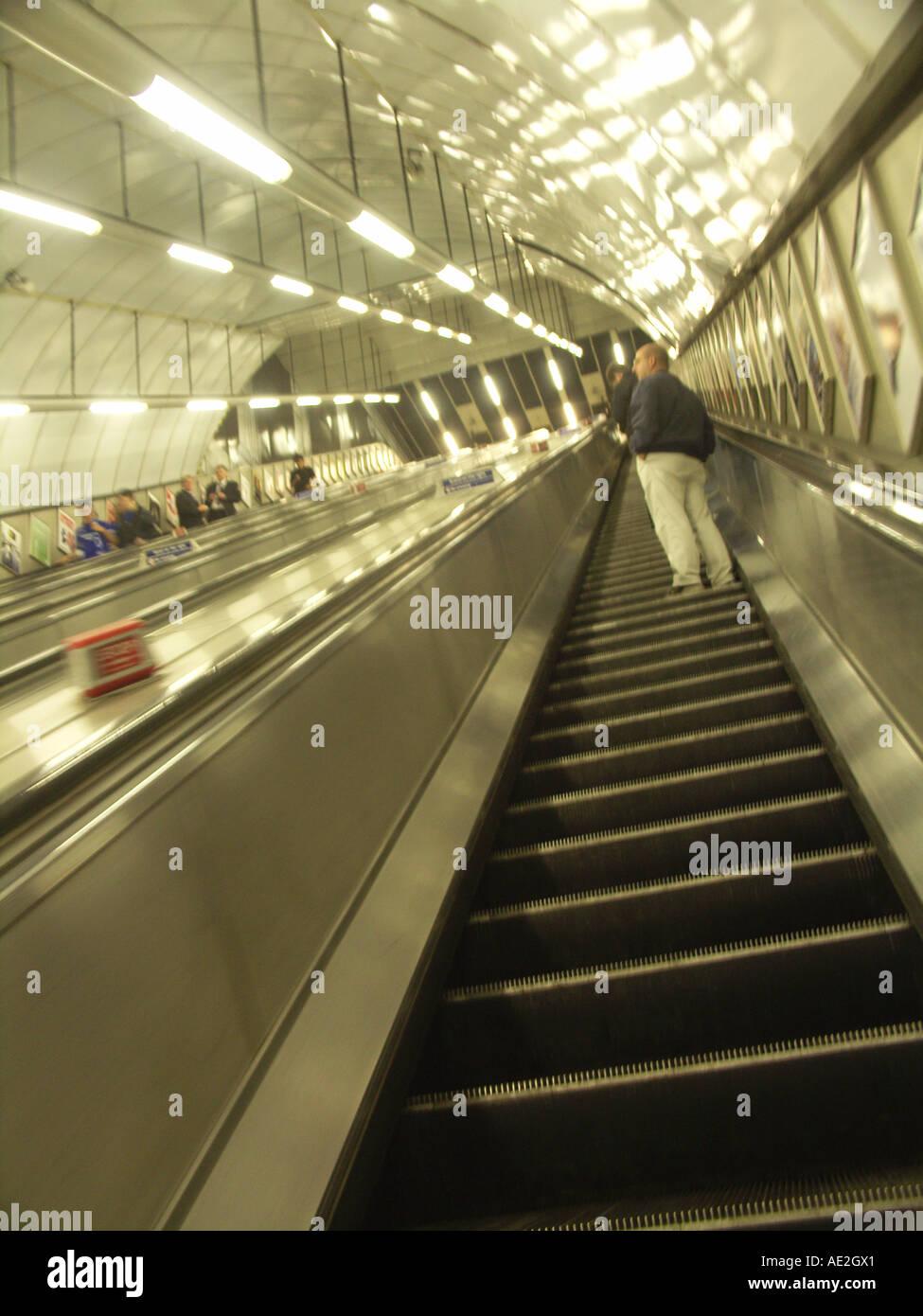 London underground tube train station England - Stock Image