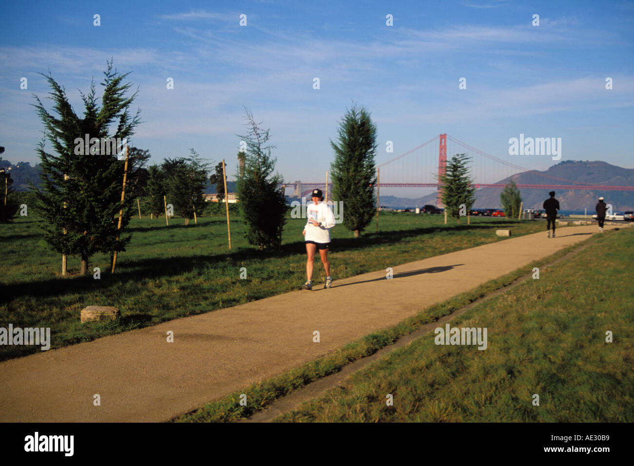 California, San Francisco, GGNRA, Entrance Grove, Crissy Field - Stock Image