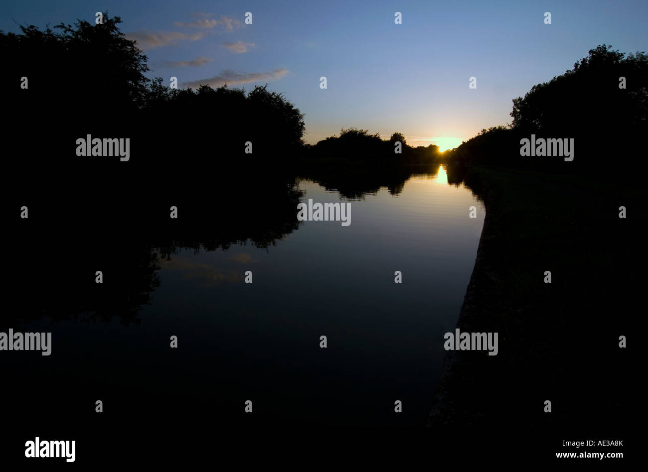 Doug Blane Narrowboat on the canal Stock Photo