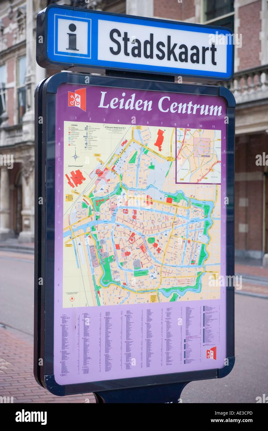 Street map leiden netherlands stock photo 7745644 alamy street map leiden netherlands publicscrutiny Images