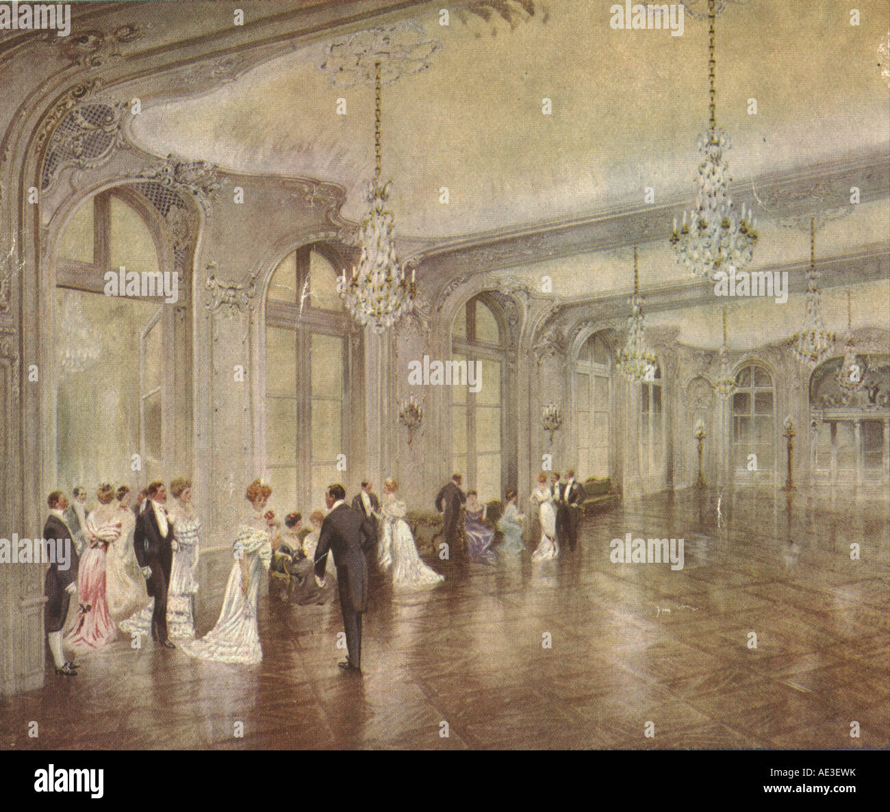 The Savoy Hotel Ballroom, London 1911 - Stock Image