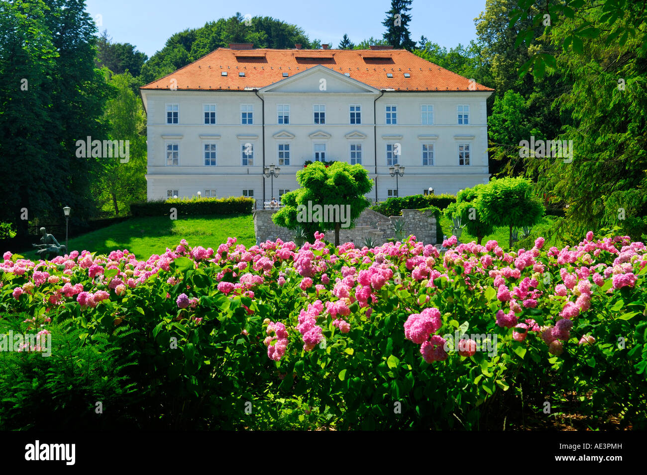 Tivoli Mansion International Centre of Graphic Art Ljubljana Slovenia - Stock Image