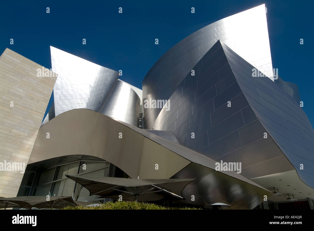 Walt Disney Concert Hall, part of Los Angeles Music Center, Frank Gehry architect, downtown, Los Angeles, California, - Stock Image