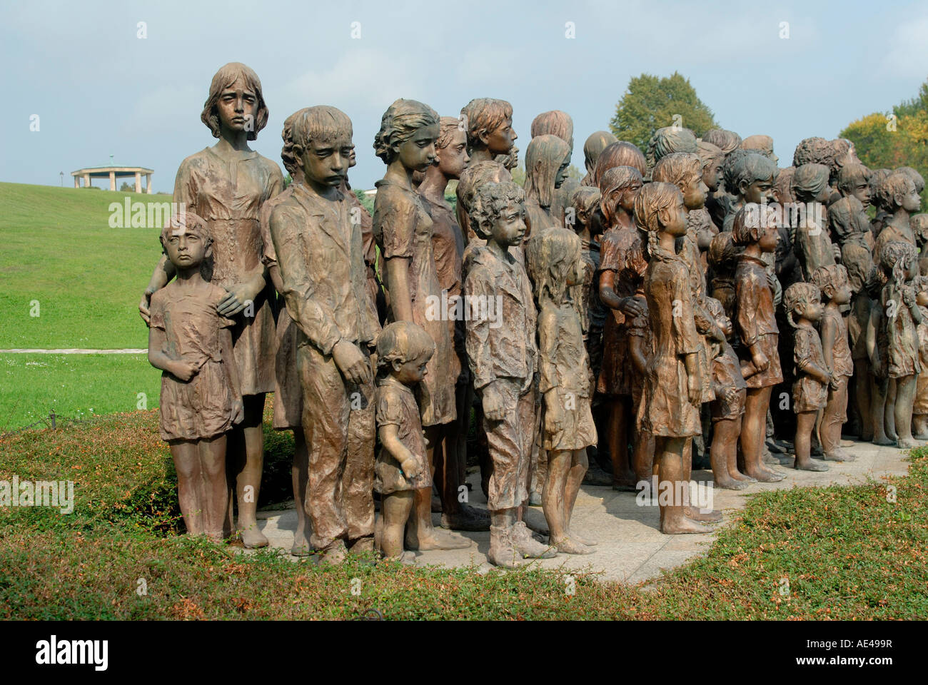 Memorial to children of Lidice, Lidice, Central Bohemia, Czech Republic, Europe Stock Photo
