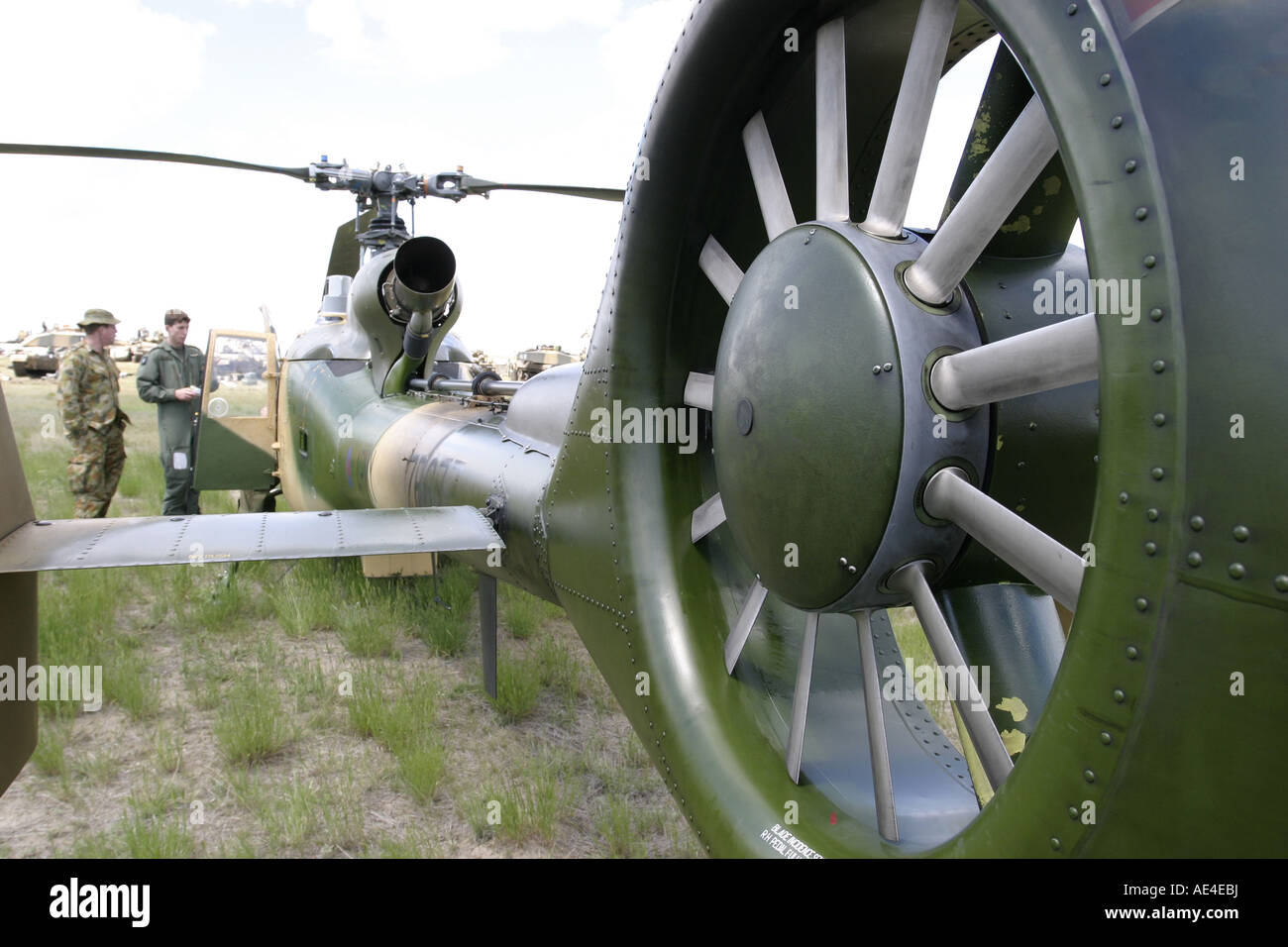 Tail rotor of Gazelle helicopter - Stock Image