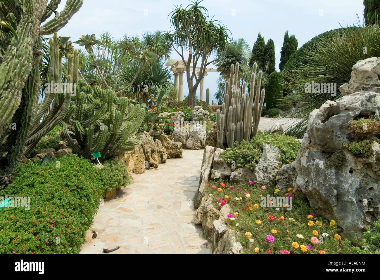 Jardin exotique moneghetti monaco europe stock photo 13565023 alamy - Photo de jardin exotique ...