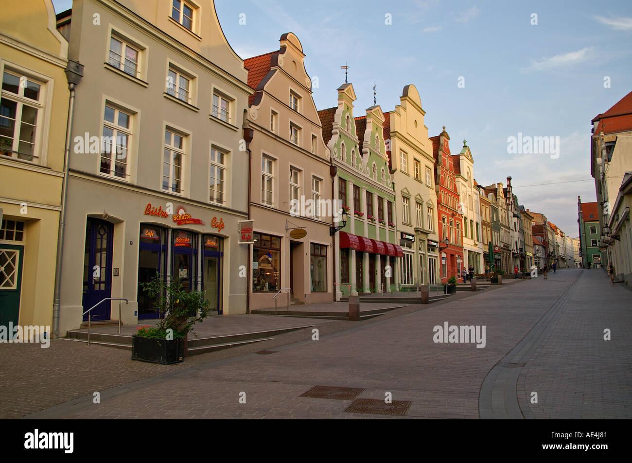 Wismar Germany Kraemerstraße - Stock Image