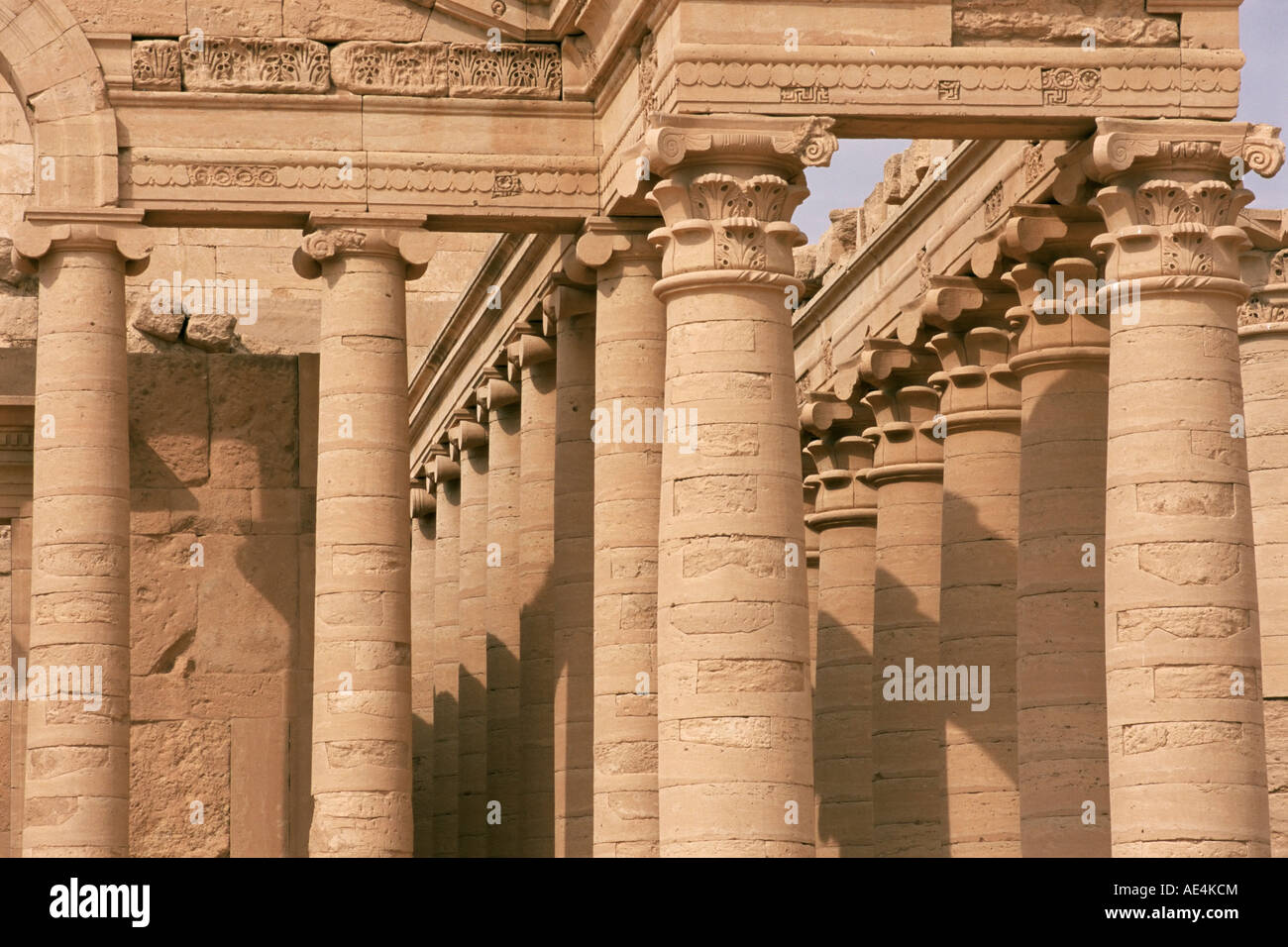 Temple of Mrn, Hatra, UNESCO World Heritage Site, Iraq, Middle East - Stock Image