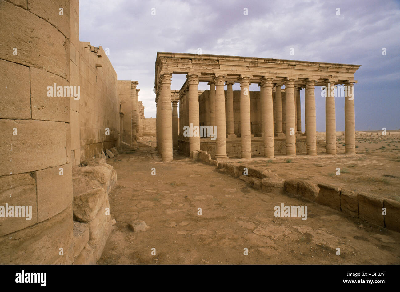 Temple of Allat, Hatra, UNESCO World Heritage Site, Iraq, Middle East - Stock Image