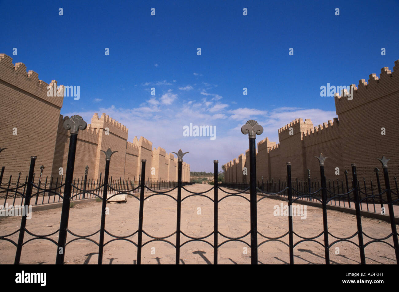 Processional street, Babylon, Iraq, Middle East Stock Photo